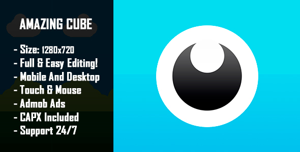 ✨Amazing Cube Adventure – HTML5 Game + Mobile Version! (Construct-2 CAPX) Nulled