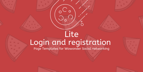 ✨Lite PHP Login & Register Page Template for WoWonder Nulled