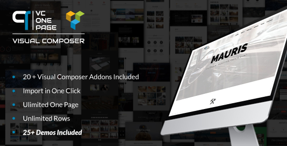 ✌VC One Page Builder – Addons for Visual Composer Nulled