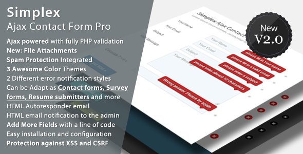 ✌Simplex Ajax Contact Form Pro Nulled
