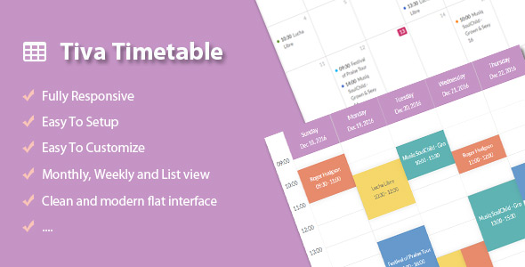 ✌Tiva Timetable For WordPress Nulled