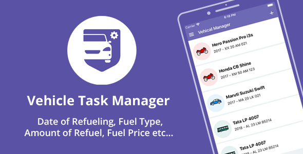 ✌Vehicle Manager – Services, Payments, Expenses – Native Android mobile app Nulled