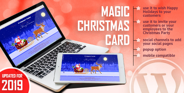 ✌Magic Christmas Card With Animation – WordPress Plugin Nulled