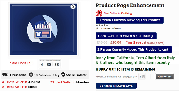 ✨Woocommerce Sale Booster – Product Page Enhancement Nulled