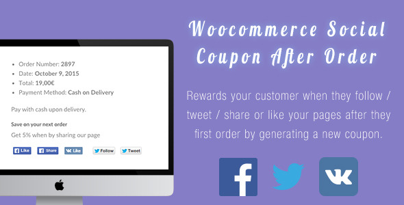 ✨Woocommerce After Sale Social Coupon Nulled
