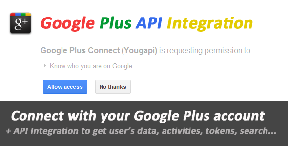 ✨Google Plus Connect and API Integration Nulled