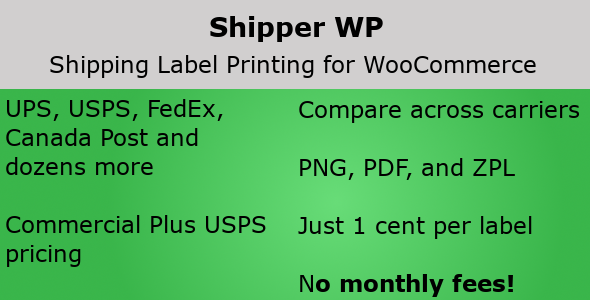 ✌Shipper WP – Shipping Labels for WooCommerce Nulled