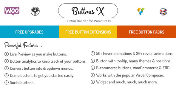 ✌Buttons X – Powerful Button Builder for WordPress Nulled