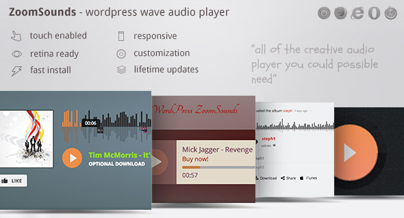✨ZoomSounds – WordPress Visual Composer Waveform Audio Player Nulled