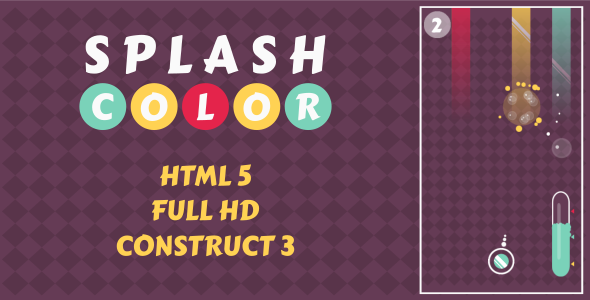 ✅ Splash Color – HTML5 Game (Construct3) Nulled