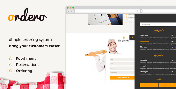 ✨Ordero – Menu,Order,Reservation WordPress Plugin Nulled