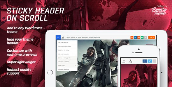✨Sticky Header on Scroll for WordPress Nulled