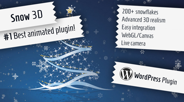 ✌Snow 3D – Christmas Plugin for WordPress Nulled