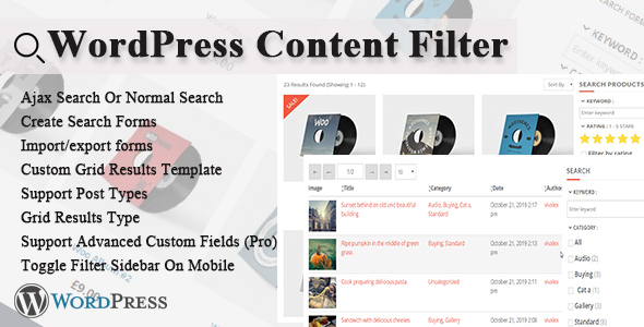 ✅ WordPress Content Filter Nulled