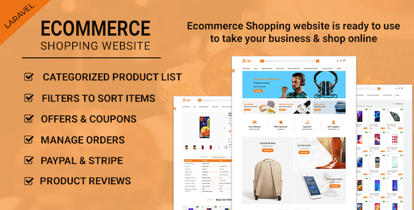 ✌Ecommerce Shopping Website – Take Your Shop Online With Laravel Nulled