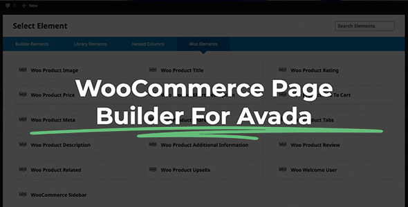 ✅ WooCommerce Page Builder For Avada and Fusion Builder Nulled