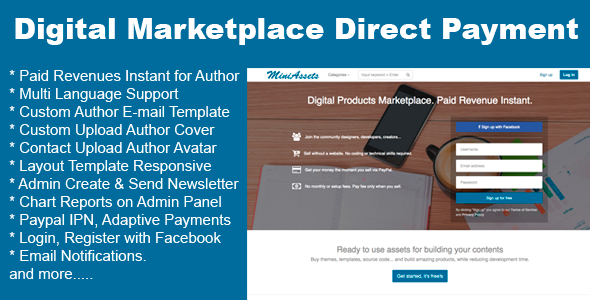 ✅ Digital Products Marketplace Direct Payment Nulled