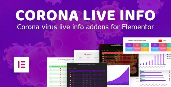 ✨Corona Live Info: Addon for Elementor WordPress Plugin Nulled