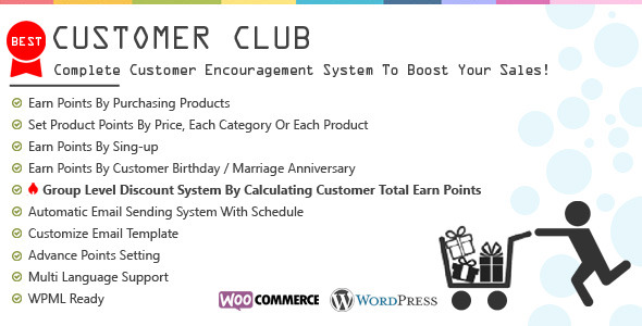 ✨Customer Club : Advanced WooCommerce Point System Nulled