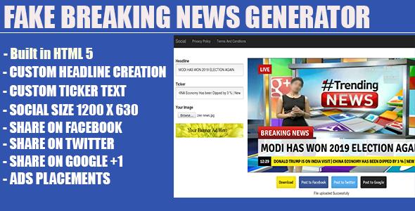 ✌Fake Breaking News Headline Generator Nulled