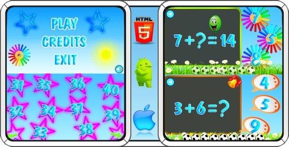 ✌Math Game for Kids – HTML5 Mobile Game (Construct 3 | Construct 2 | Capx) Nulled