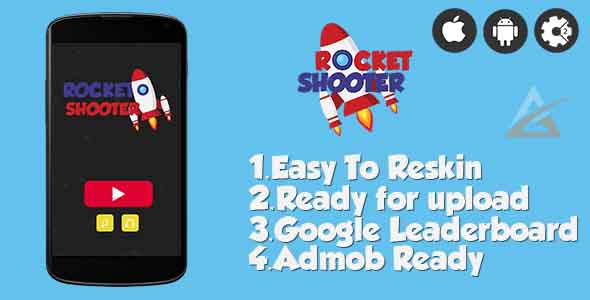 ✌Rocket Shooter- HTML5 Game + Mobile Version! (Construct-2 CAPX) Nulled