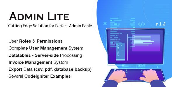 ✨Admin Lite – PHP Admin Panel + User Management Nulled