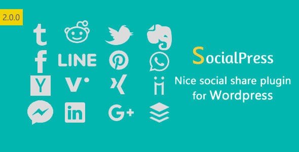 ✨SocialPress – Nice social share plugin for WordPress Nulled