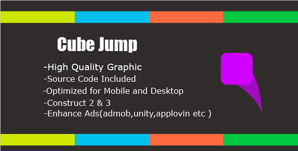 ✨Cube Jump – HTML5 & Mobile Game (Construct 2&3) Nulled