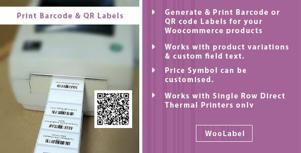 ✅ QR & Barcode Generator Label Printing – Woolabel Nulled
