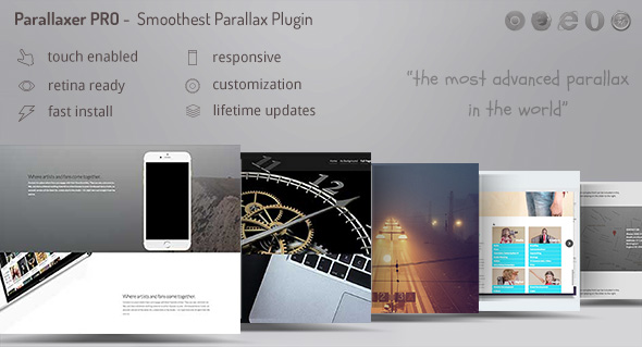 ✌Parallaxer – Parallax Effects on Content Nulled