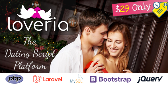 ✌Loveria – The Ultimate & Awesome Laravel PHP Dating Platform | Script Nulled