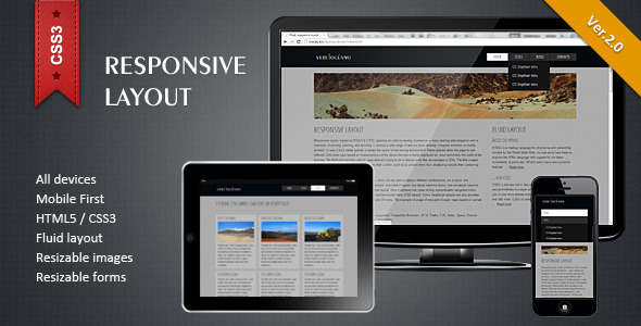 ✌Responsive HTML5/CSS3 Layout Nulled