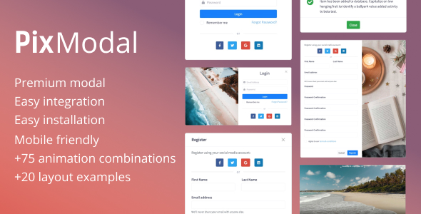 ✅ PixModal – Responsive Modal Popup Nulled