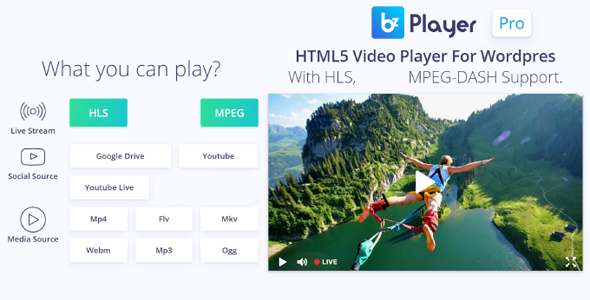 ✌bzplayer Pro – Live Streaming Player WordPress Plugin Nulled