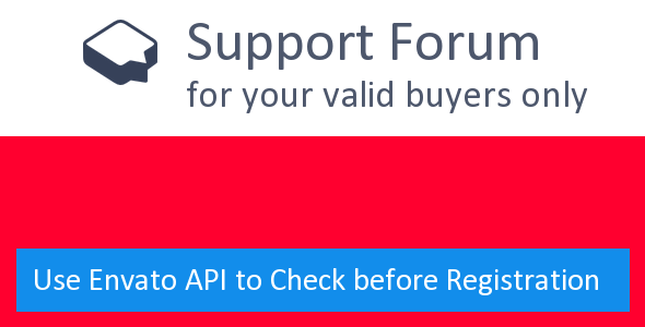 ✨Support Forum with Envato License API Nulled