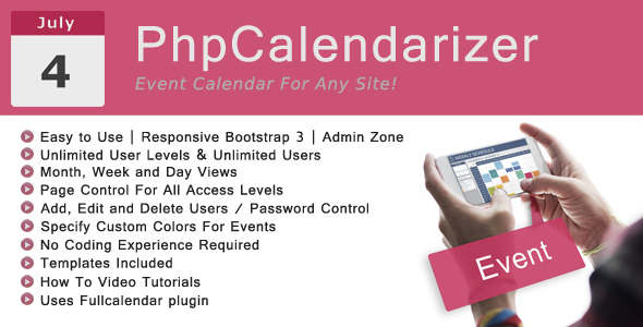 ✌PhpCalendarizer Nulled