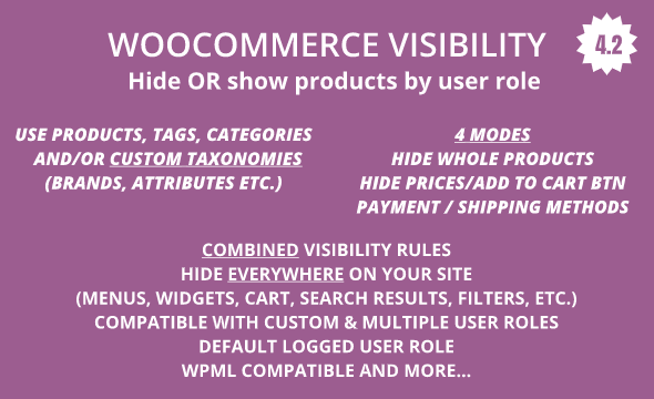 ✨WooCommerce Hide Products, Categories, Prices, Payment and Shipping by User Role Nulled