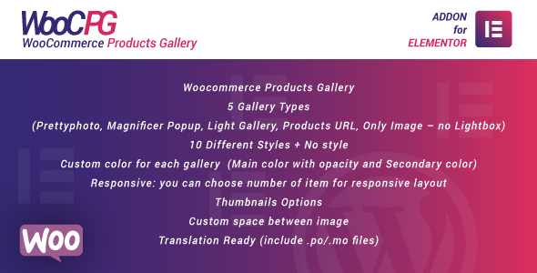 ✌WooCommerce Products Gallery for Elementor WordPress Plugin Nulled