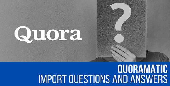 ✅ Quoramatic – Questions and Answers Post Generator Plugin for WordPress Nulled
