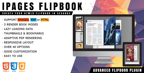 ✅ iPages Flipbook – jQuery Plugin Nulled