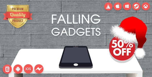 ✨Falling Gadgets – Premium HTML5 game + Mobile Version – Non-Exclusive License Nulled