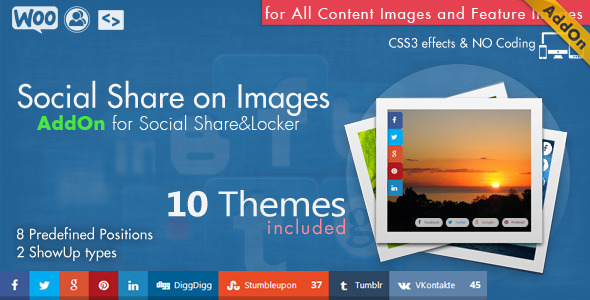✨Social Share on Images AddOn – WordPress Nulled