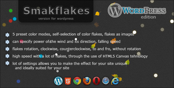 ✅ Smakflakes – various flakes for WordPress Nulled