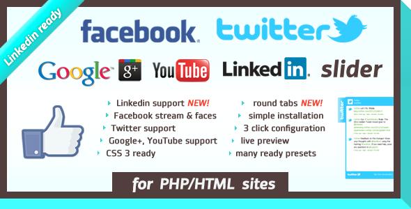 ✅ Facebook Likebox/Twitter Slider Nulled