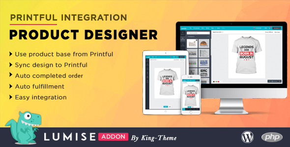 ✨Printful Integration – Addon for Lumise Product Designer Nulled