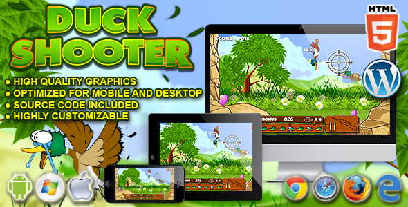 ✅ Duck Shooter – HTML5 Game Nulled