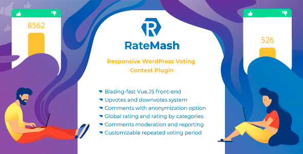 ✅ RateMash – Responsive WordPress Voting Contest Plugin Nulled