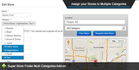 ✌Super Store Finder – Multi Categories Add-on Nulled