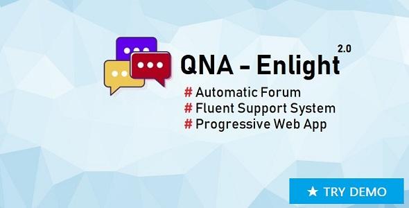 ✅ QnA-Enlight – Automatic Forum, Fluent Support Ticket, PWA (Laravel, Vue) Nulled